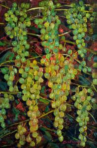 Uva matura al tramonto - Olio su tela 40 x 60 - 2001