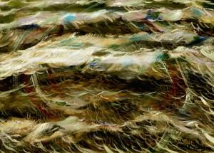 Mare in burrasca n. 5 - Olio su tela 50 x 70 - 1991