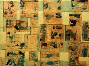 Architettura spaziale (maglie del quadrato) - Olio su tela 90 x 120 - 1972