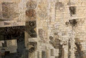 Tempio sommerso, olio su tela, 148 x 220 -  1966-1967  - Collezione Banca Intesa San Paolo