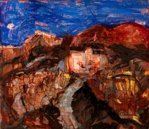 Terra lavica, olio su masonite, 70 x 80 - 1955-56 - Collezione Banca Intesa San Paolo